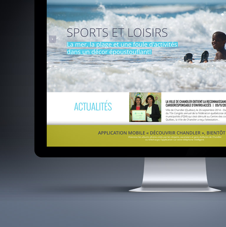 Site web et application mobile